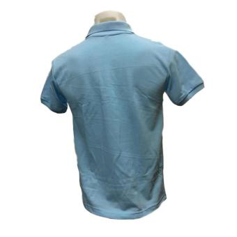 JEVANA Knitted Plain Polo Shirt (Light Blue) - 3