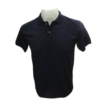 JEVANA Knitted Plain Polo Shirt (Navy Blue)