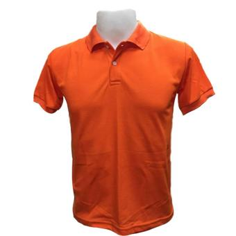 JEVANA Knitted Plain Polo Shirt (Orange)