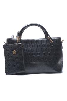Jewelmine Lawrence Top-Handle Bag (Black)
