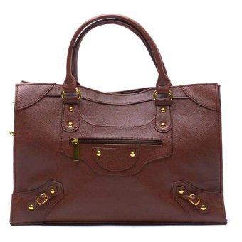 Jewelmine Pippa Stud Tote Bag (Brown) - picture 2