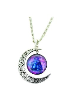 Jewelry Choker Glass Pendant Moon Neck - picture 2