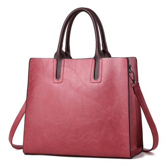 Jianyue large capacity women shoulder large bag women's bag (Purplish red)