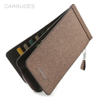 Jianyue ultra-thin men's zip card holder (Bronze color)