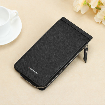 Jianyue ultra-thin wallet multi-function card holder (Black)