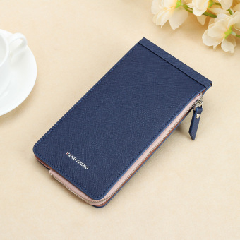 Jianyue ultra-thin wallet multi-function card holder (Dark blue color)