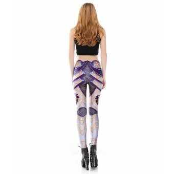 Jiayiqi Breathable Absorbent 3D Print Casual Leggings - intl - 3 .