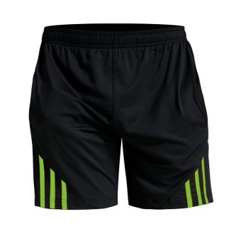 Jiayiqi Men's Gym Close Fitting Running Sports Shorts FluorescentGreen - intl Price Philippines