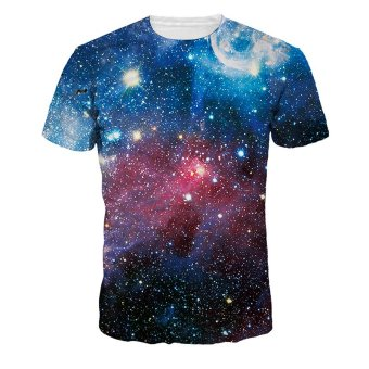 Jiayiqi Sparkly Galaxy Universe T-shirts Pretty 3D Digital PrintedTops Price Philippines
