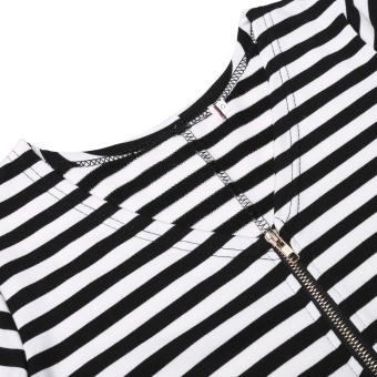 JinGle Women V Neck Short Sleeve One Piece Bikini Swimwear (Black) - 5
