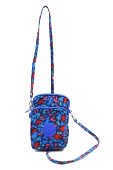JJJ Leopard Blue and Red Sling Pouch Bag