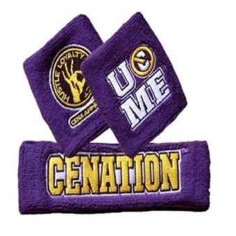 John Cena Swatbands Sports Cotton Wristbands Unisex( Purple ) -intl Price Philippines