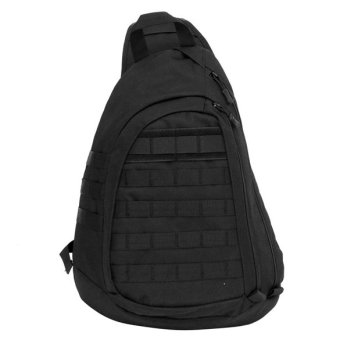 Jo.In Large Sling Single Shoulder Bag Backpack Gear Pack Tactical One Strap Heavy Duty Waterproof Chest Pack (black)