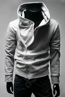 Jo.In Men Stylish Thickening hoodie jacket / coat / sweatshirt 3Colors (Gray)