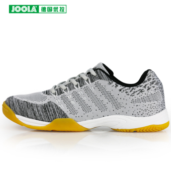 Joola training breathable professional sports shoes table tennis ball shoes (Gray and black)