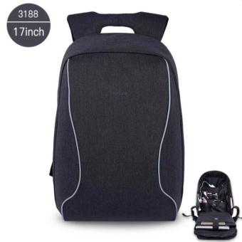 Joy 17 Inch Laptop Bags Fashion Anti-Theft Men 's BusinessBackpack-Black