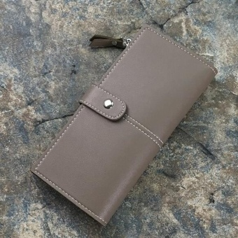 JOY super thin zipper Long wallet-Grey - intl