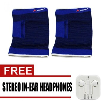 Julong Fitness Gear No. 823 Thigh Support Of 2 (Blue) with freeStereo In-Ear Headphones Price Philippines