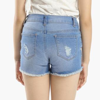 Just Jeans Girls Distressed Denim Shorts (Blue) - 2