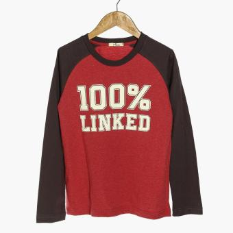 jusTees Boys 100% Linked Raglan Tee (Red) Price Philippines