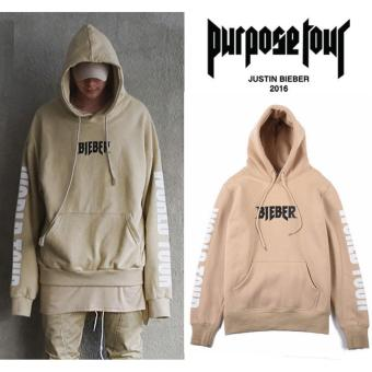 Justin Bieber Purpose The World Tour Fashion Hoodie Sweatshirt Pullover Unisex Khaki
