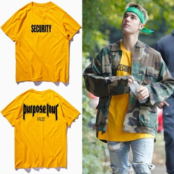 Justin Bieber same purpose tour Couple short sleeves T-shirts - intl