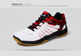 K-061 062 063 Badminton Shoes (K-063 white and red)