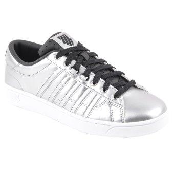 K-Swiss 93773084 Hoke Metallic CMF S Women's Sneakers Shoes (Silver/Black/White)