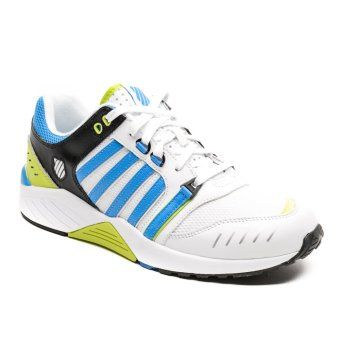 K-Swiss KSO03514189 Si-18 Trainer 3 Men's Sneakers (White/Blue Aster/Lime Punch)