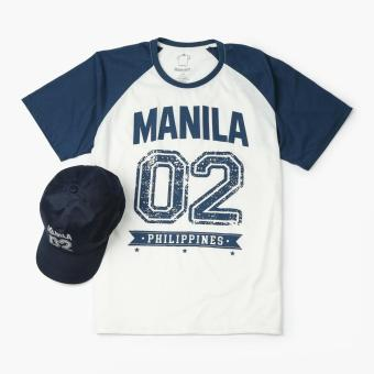 Kamisa By Kultura Mens Graphic Tee and Baseball Cap (Blue)