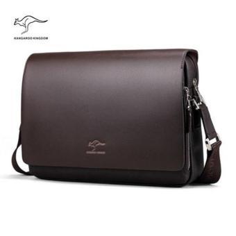 Kangaroo Kingdom Male Shoulder Bag Genuine Leather Business Bag For Men(Horizontal Version)(Medium) - 3