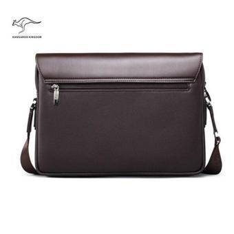 Kangaroo Kingdom Male Shoulder Bag Genuine Leather Business Bag For Men(Horizontal Version)(Medium) - 4
