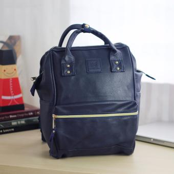 Karakter Manila Stella Leather Rucksack Convertible Bag HandBagBackpack (Navy Blue) Price Philippines