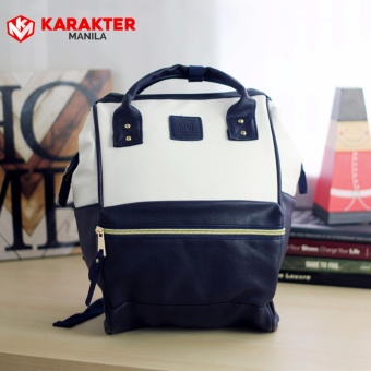 Karakter Manila Stella Leather Rucksack Convertible Bag HandBagBackpack (White/Blue) Price Philippines