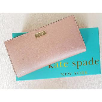 Kate Spade Cameron Street - Stacy Textured Leather Wallet-MetallicPink