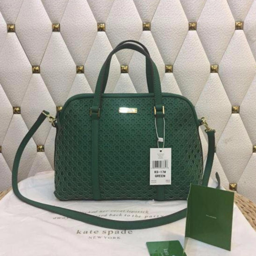 Philippines Kate Spade Perforated Dome Bag In Dark Green Price Listing