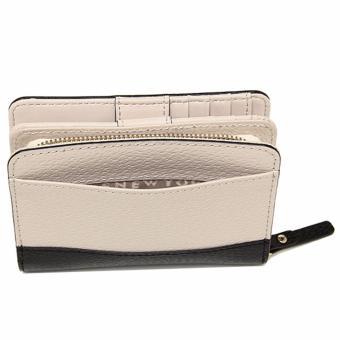 Kate Spade Wellesley Cara French Leather Clutch Wallet - BeigeBlack - 4