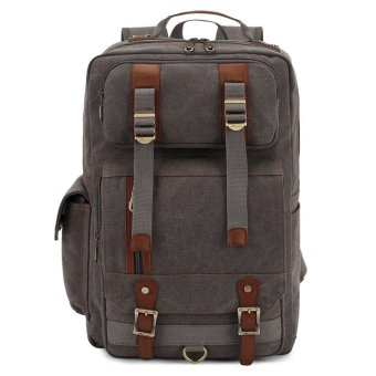 KAUKKO FS261 Men's Vintage Multi-pocket Backpacks (Grey)