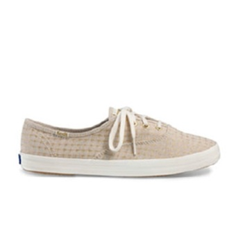 Keds Ace CH Foil Ticking Dot Sneakers (Natural)