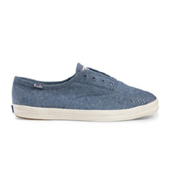 Keds Champion CH Laceless Seed Stitch Chambray Sneakers (Dark Blue) Price Philippines
