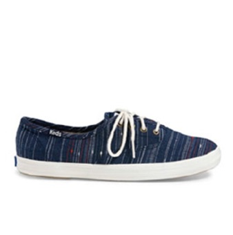 Keds Champion CH Slub Stripe Sneakers (Peacoat Navy)
