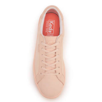 Keds Ladies Ace Mono Leather Sneakers (Pale Peach) - 4