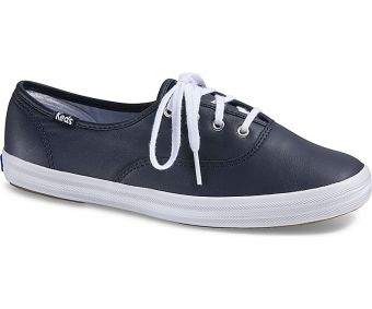 Keds Ladies Champion Leather Sneakers (Navy)