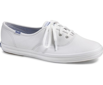 Keds Ladies Champion Leather Sneakers (White)