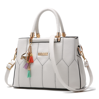 Kelly Shishang and line shoulder diagonal package women's bag (Off-white color)