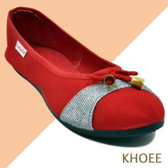 Khoee AA-017 Red Mitch Women's Doll Ballet Flat Shoes