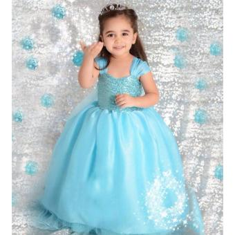 Kids Dress Blue Gown Birthday Dress Queen Elsa Costume Frozen Halloween Costume Party Dress Children Cosplay Photography Outfit Price Philippines