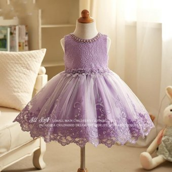 Kids girls dress Korean new spring princess dress wedding dressskirt Tutu flower children - intl