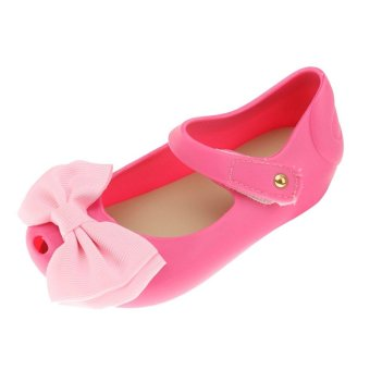 Kids Girls Sandals Rain Shoe Bow Jelly Shoes Children Toddler BabyBeach Shoes - intl