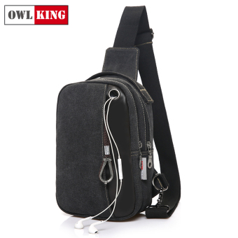 King Stylish shoulder small bag New style chest pack (Charm black 527-1 small) (Charm black 527-1 small)